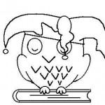 Eule auf einem geschlossenem Buch - eine Zeichnung von Olaf Zernick