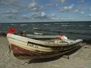smt - Boot am Strand