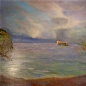 """""""Am Meer""""ein Bild von Gerhard Jaeger - this is a picture from the painter Gerhard Jaeger the title is """"by the sea"""""""
