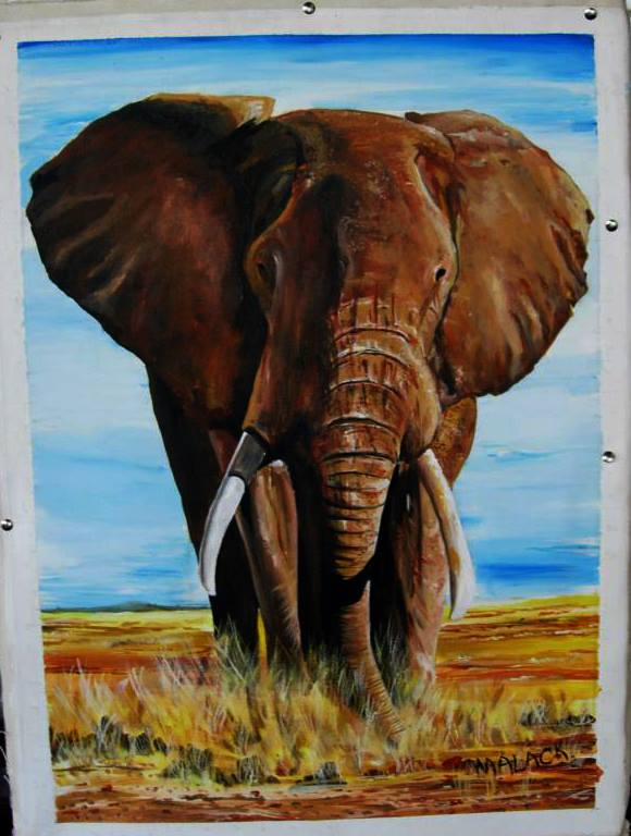 Silas Malack: Bild eines Elefanten - with a Picture of an elephant