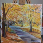 Silas Malack the painting with the titel Beauty of Herbst (2)