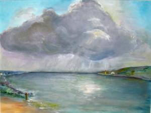 "Gerhard Jaeger Gemälde ""Am Meer"""