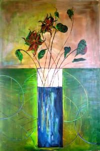 "Gerhard Jaeger: Bild ""Blumen und Meer 11"""