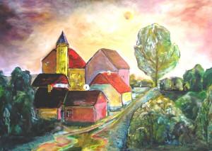 "Gerhard Jaeger: Bild ""Dorf Wartatal 15"""