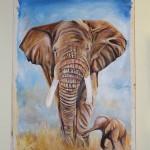 Elefantenbild von Malack Silas