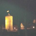 Turm in Mittenwalde am Neujahrstag