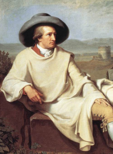 Aus Wikimedia Commons, dem freien Medienarchiv - {{PD-user-w|en|Wikipedia|Hajduk}}. Certainly the painter is long dead. See also Goethe-italy.jpg Detail From: Johann Heinrich Wilhelm Tischbein: Goethe in the Roman Campagna, 1786/1787 Oil on canvas. Painted in Italy. Location: Städelmuseum Frankfurt