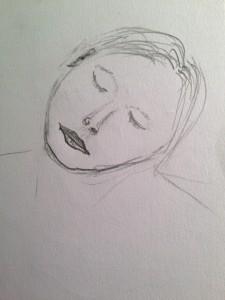 Zeichnung 2016-05-17 Schlafende von Andreas Schrock