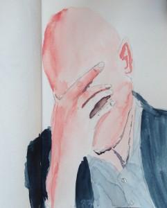 Andreas Schrock: Zeichnung 2017-03-00 Jacketträger