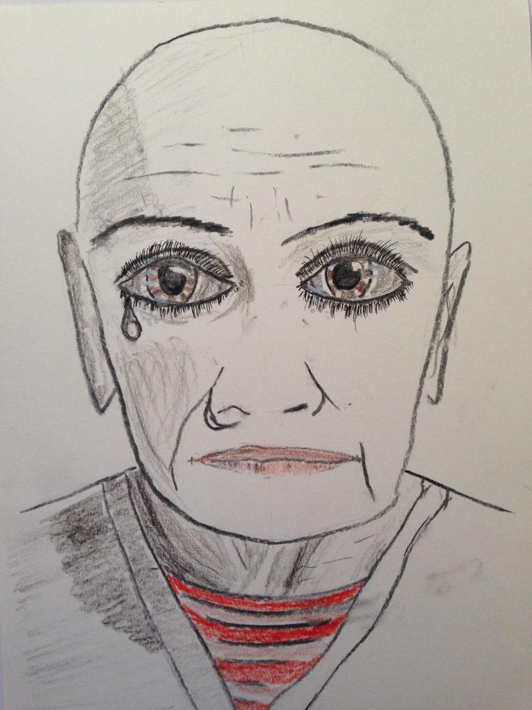 Zeichnung von Andreas Schrock: Der Artist