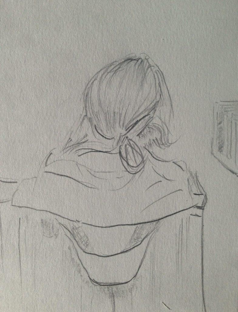 Andreas Schrock: Zeichnung-2018-03-Parka